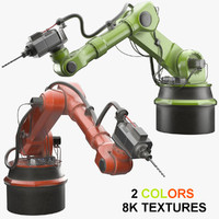 3d model industrial robot 1