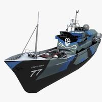 3d ship whaling model