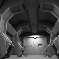 scifi sci fi 3d model