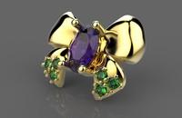 3ds ring earrings