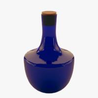 glass bottle 3d max