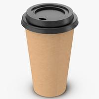 coffee cup 16oz takeout 3d obj