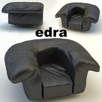 chair edra sfatto 3d max