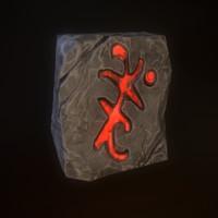 3d magic stone model