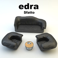 edra furniture table 3d model