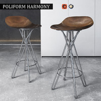 3d chair poliform harmony