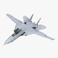 f-14 tomcat combat aircraft 3d max