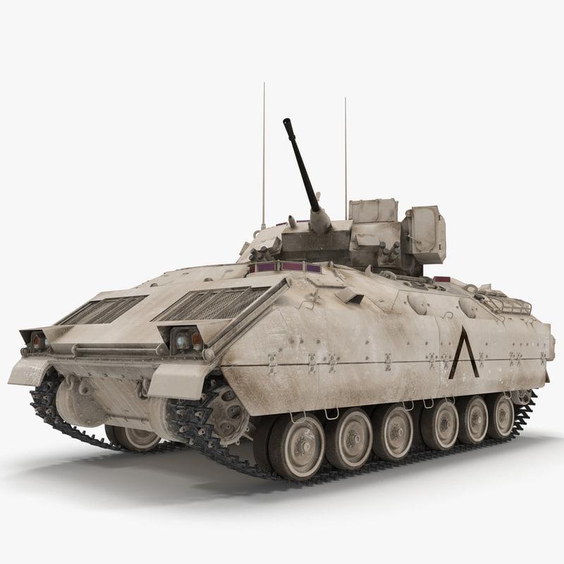 US Infantry Fighting Vehicle Bradley M2 Rigged 3dsmax vray 3d model 00.jpg