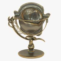 obj globe artefact