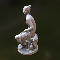3d ancient greek roman statue