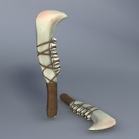 3d model jaw bone knife