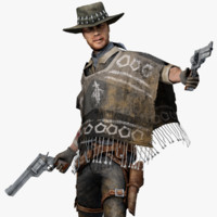 3d cowboy marmoset toolbag model