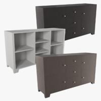 3d sideboard shelf model