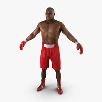 african american boxer red 3d max
