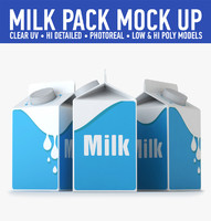 milk carton 3d 3ds