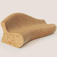 parametric bench 3d max