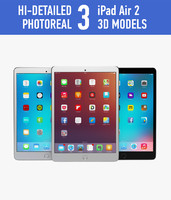 3d apple ipad air 2 model