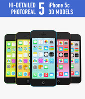 3d model apple iphone 5c