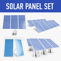 solar panel set 3d model