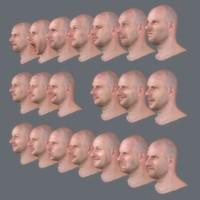3d 21 expressions realistic model