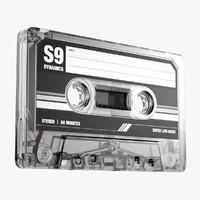 3d model music cassette tape