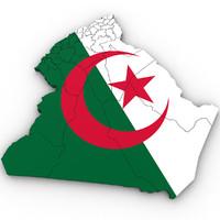 algeria country 3d model