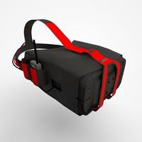 3d model of quanum v2 pro goggle