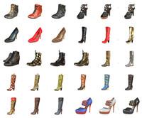 3d woman shoe model