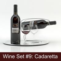 alcohol set 9: cadaretta 3d max