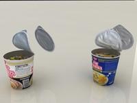 3d model nissin instant cup noodles
