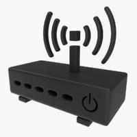 icon modem 3d model