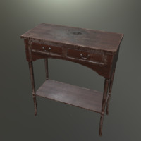 3d model antique old table