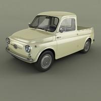 3d 1961 fiat 500 pickup