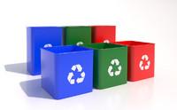 3d recycle bins model