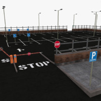 parking lot 3d model