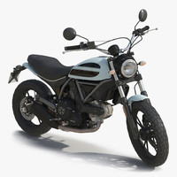 generic motorcycle rigged 3d model