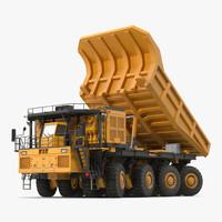 mining truck rigged 3d model