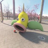 3d pokemon weepinbell
