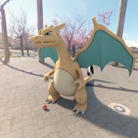 3d model pokemon charizard