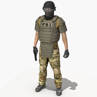 crye multicam uniform 3d model