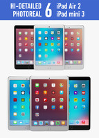apple ipad air 2 3d 3ds