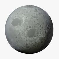 3d moon space sky