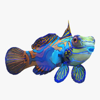 mandarinfish rigged 3d max