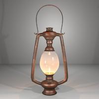 3d brass lantern