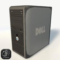 3d model of pc workstation