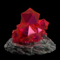 red crystal 3d model