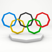 3d model of olympic ring