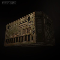 sci-fi crate 3d 3ds