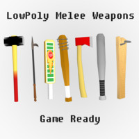 Lowpoly melee weapons (Game Ready)