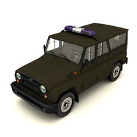suv police military 3d model